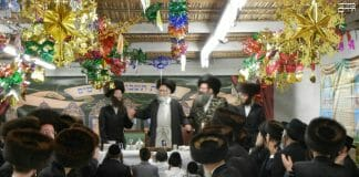Spinka Rebbe with Rav Berland