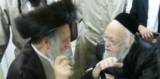 Rav Elyashiv with Rav Berland