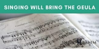 The complete redemption will happen through singing