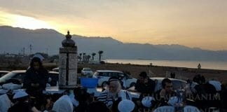 Morning prayers in Eilat