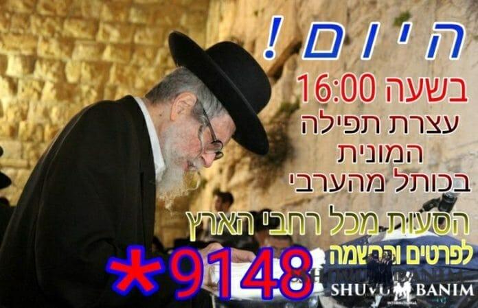 Rabbi Berland at the Kotel