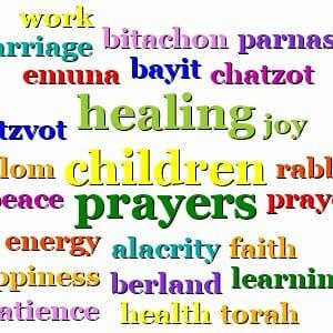 prayers by Rabbi Berland