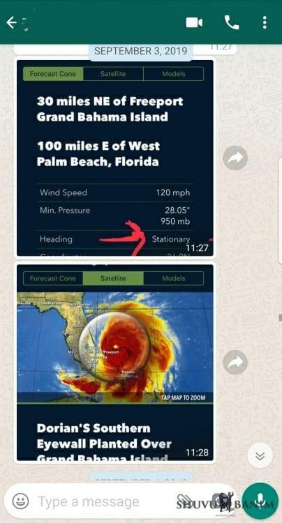 """Hurricane Dorian """"stationary"""" over the Bahamas"""