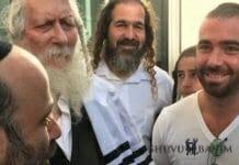 Singer Omer Adam with Rav Berland
