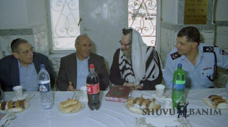 "Rabbi Berland with ""Ghandi"" Zeevi"